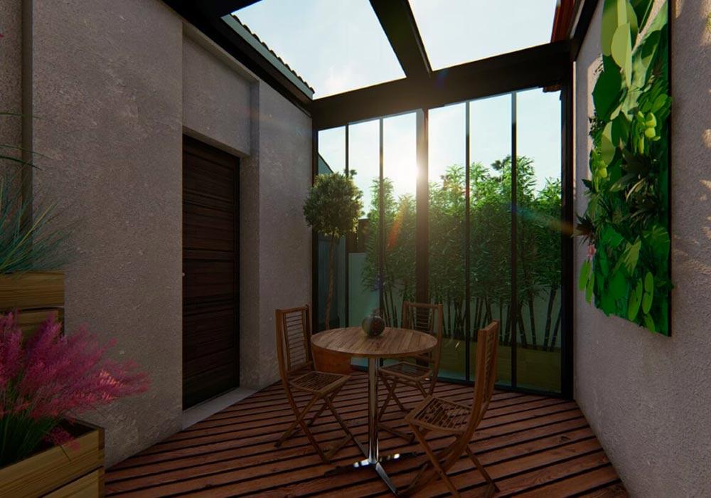 aménagement jardin intérieur